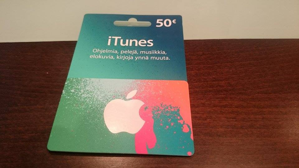 Henri nappasi itselleen iTunesin 50€ lahjakortin!