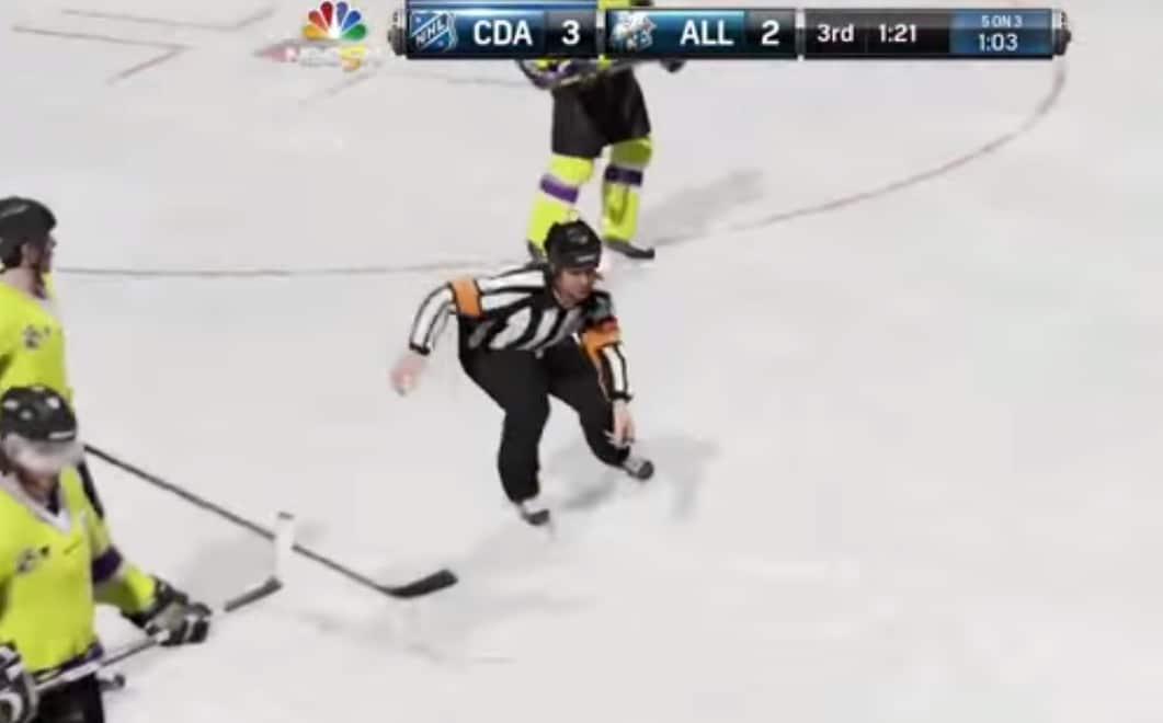 Video: Koomisia tuomarimokia NHL15-pelistä