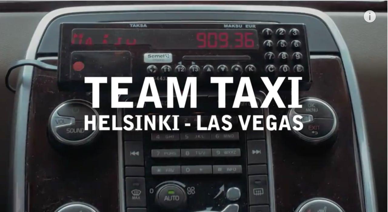 Video: Suomalaisjulkkiset lähtevät taksilla mukaan Gumball 3000-autokisaan