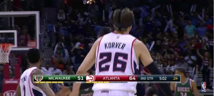 Video: Atlantan Kyle Korver pussitti 11 pistettä 65 sekunnissa NBA:ssa