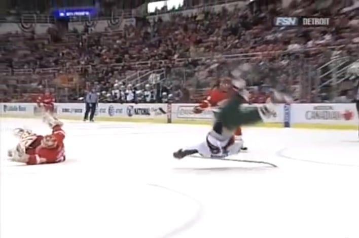 Klassikkovideo: Hasek torjuu läpiajon ja lennättää Gaborikin voltilla jäähän