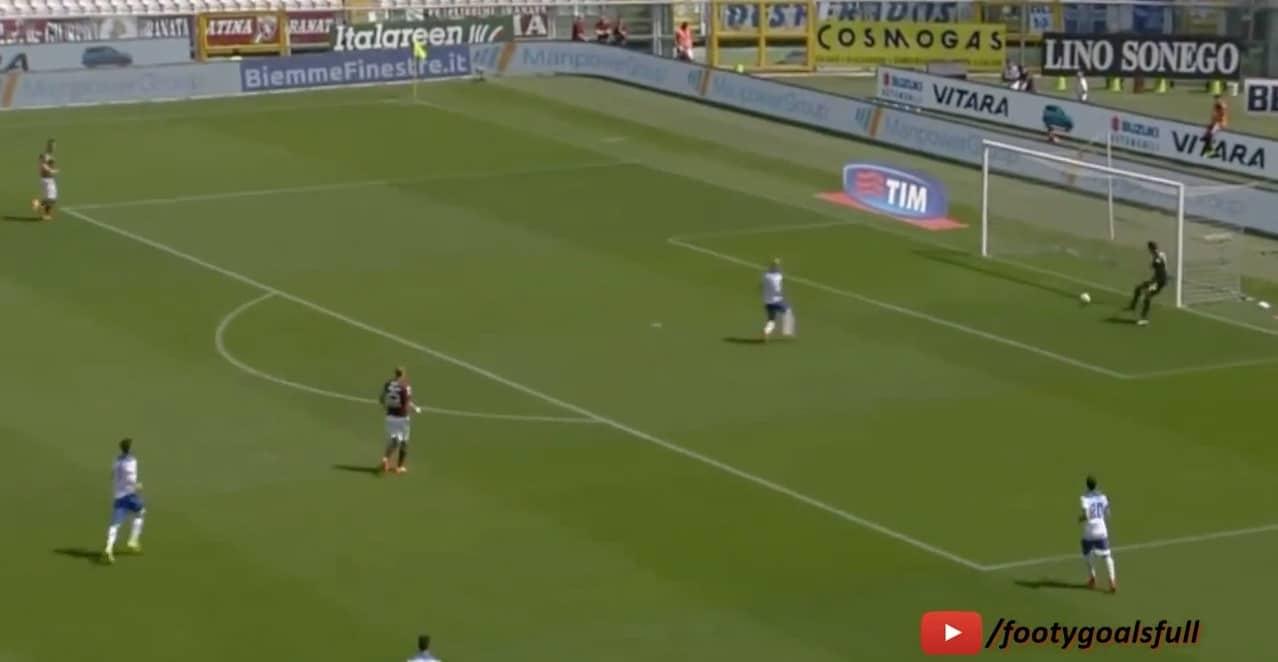Video: Torinon maalivahdilta aivan järkyttävä oma maali