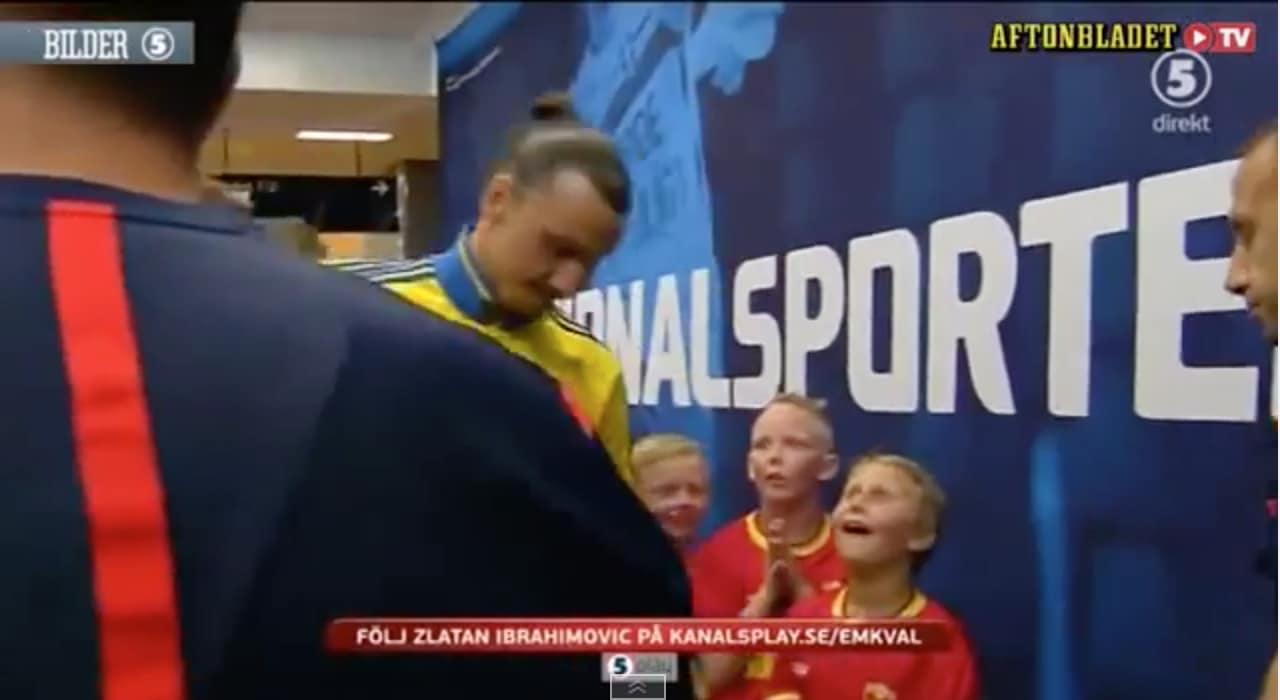 Video: Zlatanin näkeminen aiheutti pojille hämmästyttävät reaktiot