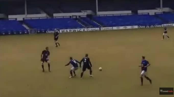 Video: Evertonin fanilta älyttömän komea oma maali