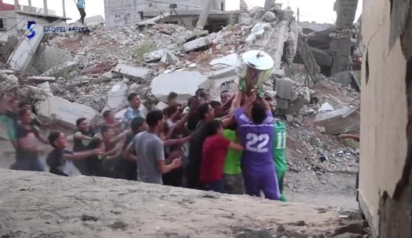 Palestiinan futisliigan voittajalta pysäyttävä mestaruusvideo