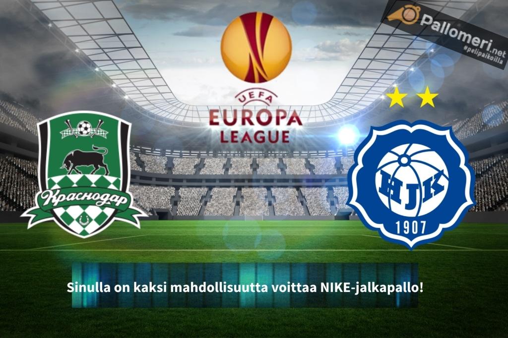 HJK Krasnodar nike eurooppa-liiga europa league Pallomeri.net