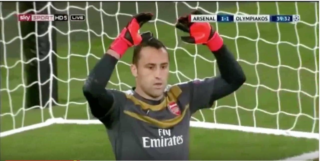 Ospina Arsenal jalkapallo maaliin / Pallomeri.net