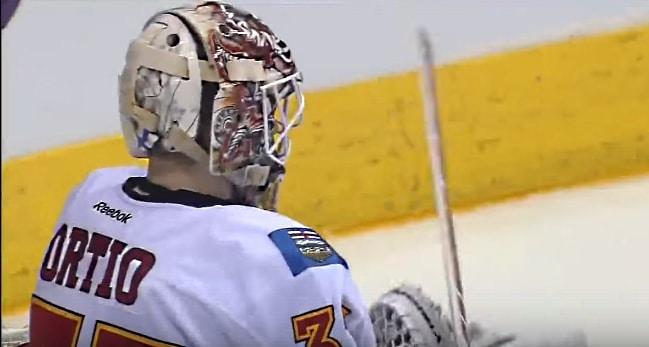 Joni Ortio Calgary Flames maalivahti goalie Ortiolle Pallomeri.net