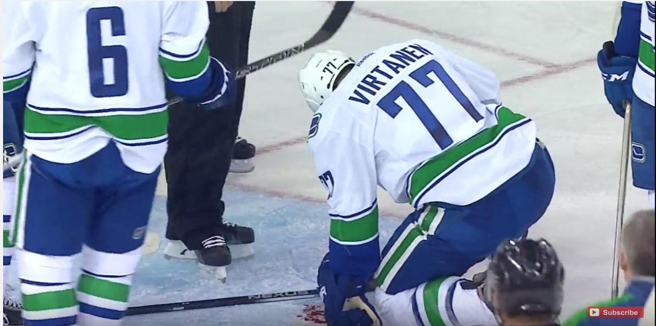 Jake Virtanen maaliin NHL jääkiekko / Pallomeri.net