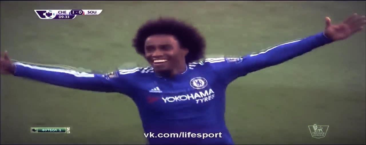 Willian Valioliiga jalkapallo Chelsea / Pallomeri.net