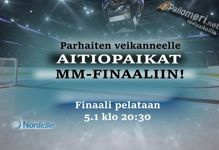 u20 mm-finaali liput aitiopaikat jääkiekko leijonat mm-finaaliin Pallomeri.net
