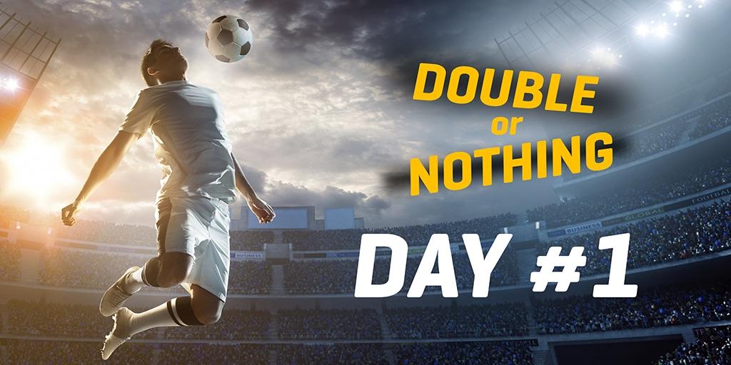 Vedonlyöntituplaus päivä 1 – Maanantai on täynnä jalkapalloa