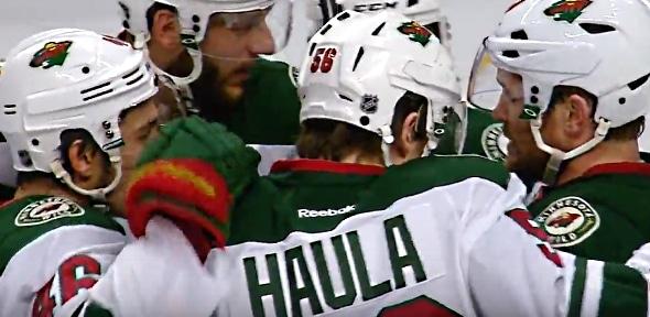 Erik Haula ja Mikko Koivu karkasivat upean av-maalin tekoon