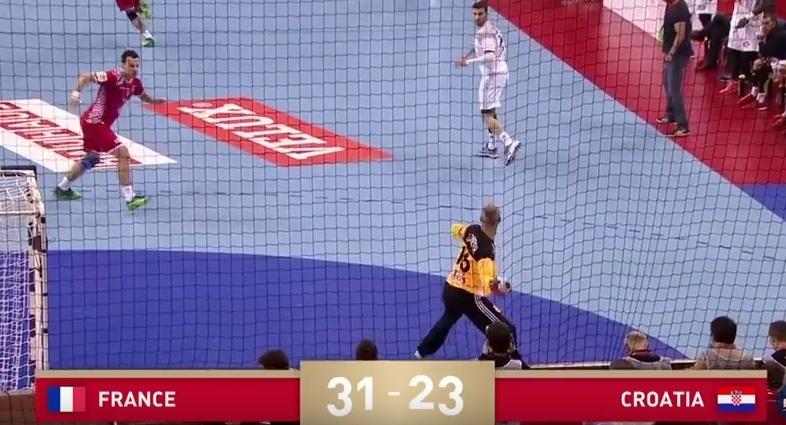 france goalkeeper scores handball pallomeri.net