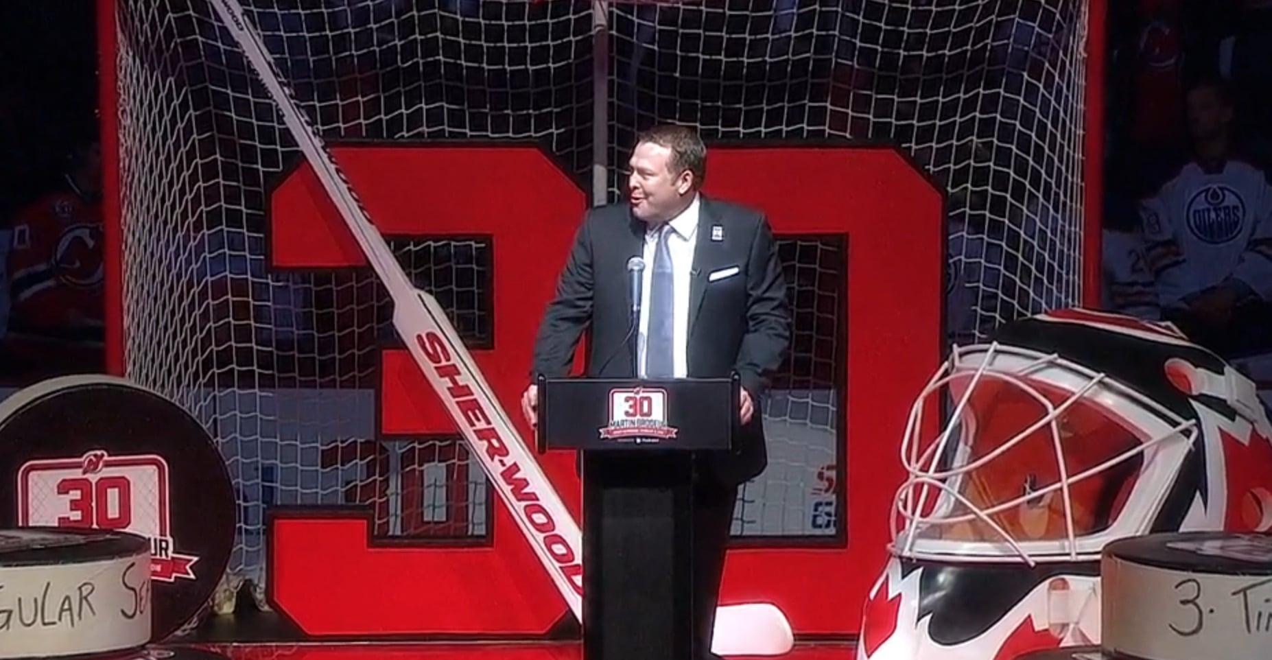 Hall of Fame Martin Brodeur NHL New Jersey / Pallomeri.net