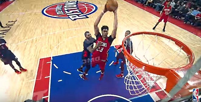 Video: New Orleansin Anthony Davis pussitti 59 pistettä NBA:ssa