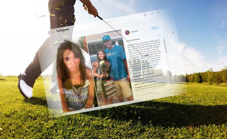 PGA Tourin golfari vei kukkia kotiovelle tytölle, johon osui pallolla