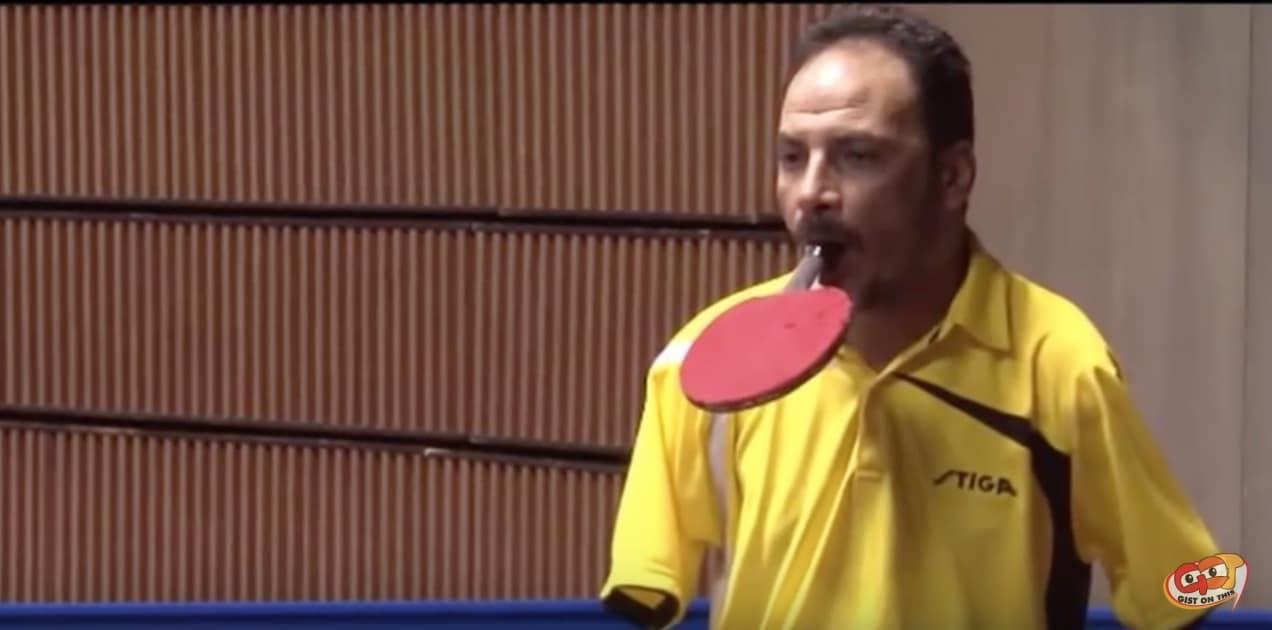 Video: Kädetön Ibrahim Hamato on uskomattoman taitava pöytätenniksen pelaaja