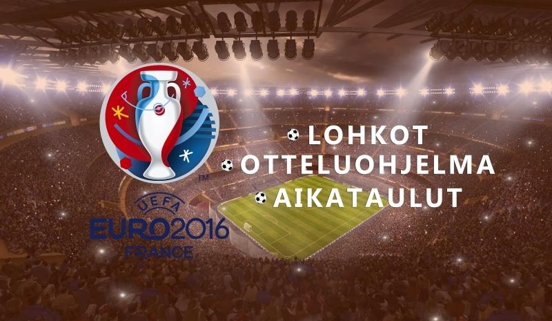 Jalkapallon EM-kisat otteluohjelma ohjelma aikataulu Pallomeri.net