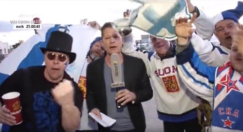 Video: Leijonafanit ottivat saksalaisen tv-lähetyksen haltuun