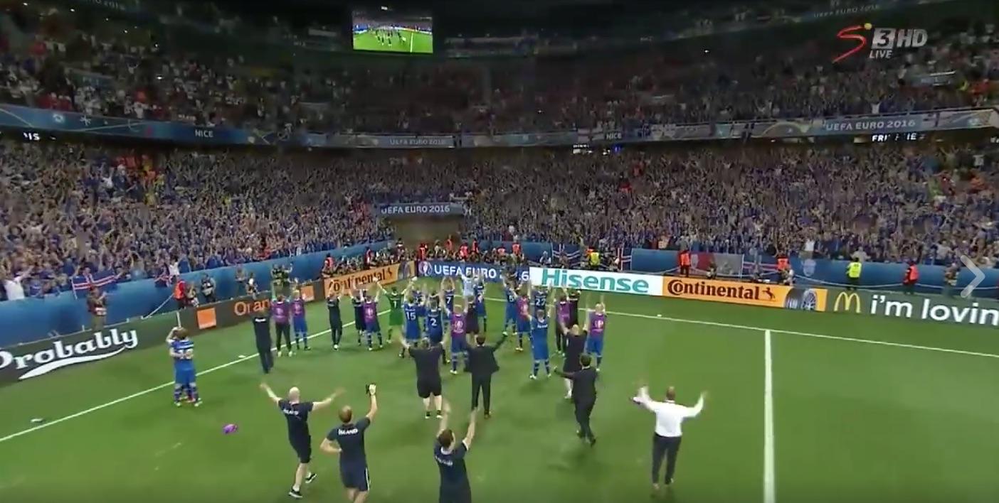 Video: Islannin faneilla hurja meininki stadionilla – myös Reykjavikissa ihmiset sekosivat
