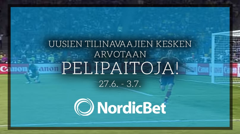 Tarjous: NordicBet arpoo futispaitoja uusien tilinavaajien kesken!