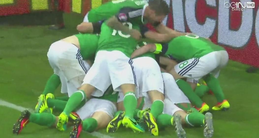 Video: Pohjois-Irlanti kaatoi Ukrainan 0-2!