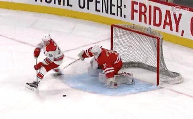 Video: Carolina-lupaukselta aivan älytön rankkariosuma NHL-leirillä