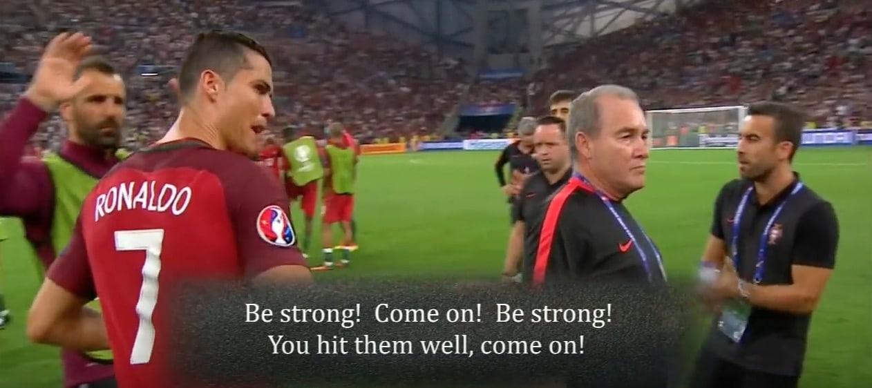 Video: Joao Moutinho jänisti rangaistuspotkun vetämistä – Ronaldolta jäätävä motivointipuhe