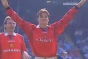 Klassikkovideo: 21-vuotias David Beckham iskee legendaarisen maalin
