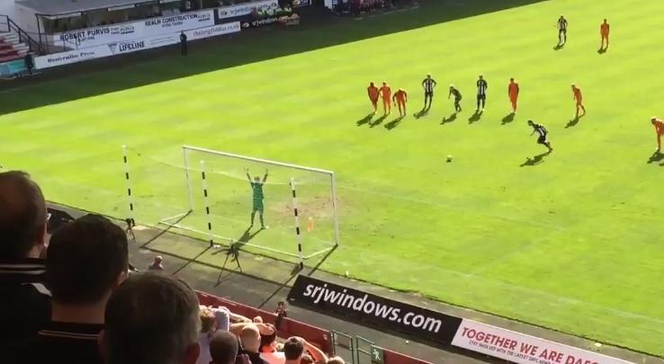 Dundee Unitedin Cameron Bell torjuu 3 rankkaria - pallomeri.net
