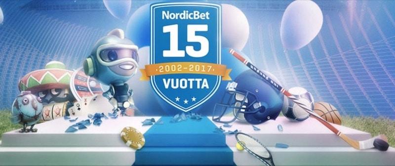 NordicBet viettää 15-vuotissyntymäpäivää