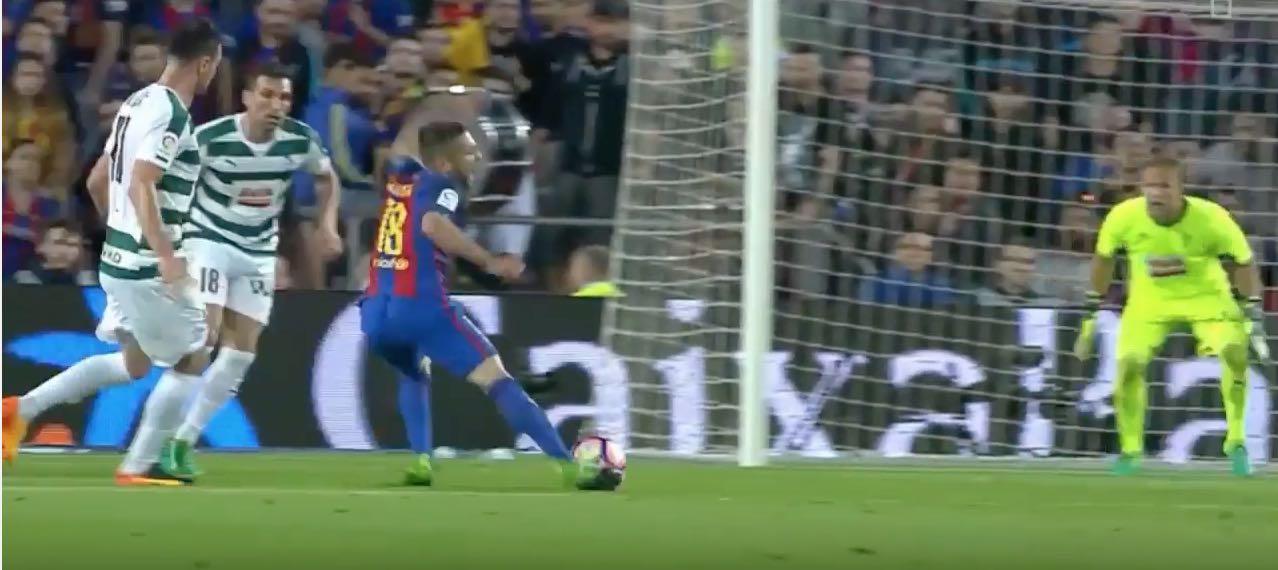 Jordi Alba Barcelona La Liga / Pallomeri.net