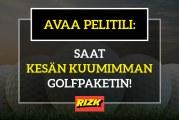 Avaa pelitili – saat kylkiäisenä kesän kuumimman golfpaketin!