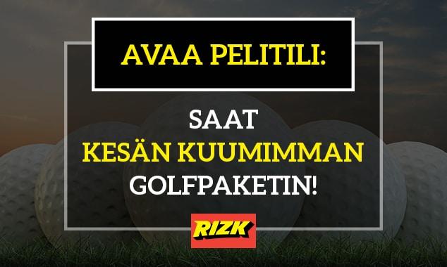 Avaa pelitili - saat kylkiäisenä kesän kuumimman golfpaketin!