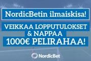 NordicBet tarjoaa: Veikkaa cup-finaalien lopputulokset & voita 1000€ pelirahaa!