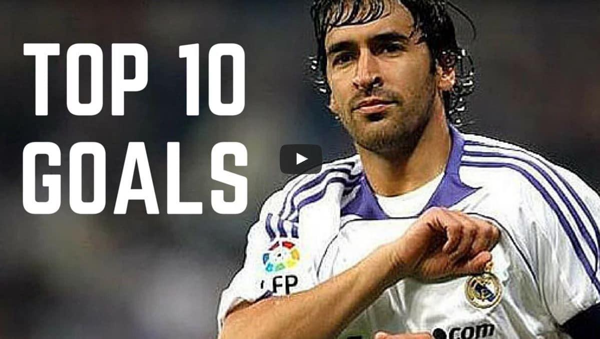 Raul tänään 40 vuotta - tässä Real Madrid -legendan TOP-10 maalit