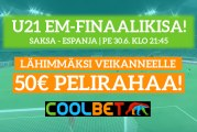 KISA U21 EM-finaaliin! – lähimmäksi veikanneelle 50€ pelirahaa