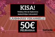 Wimbledon-KISA! – Veikkaa Djokon ässien määrä ja voita 50€ pelirahaa!