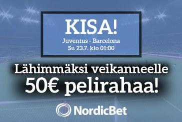 Juventus – Barcelona -KISA! – lähimmäksi veikanneelle 50€ pelirahaa!