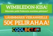 Wimbledon-KISA! – lähimmäksi veikanneelle 50€ pelirahaa!