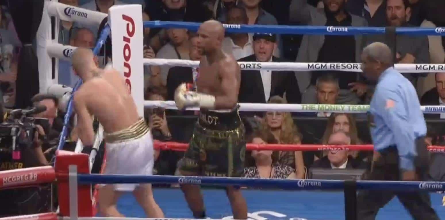 Floyd Mayweather Conor McGregor nyrkkeily / Pallomeri.net