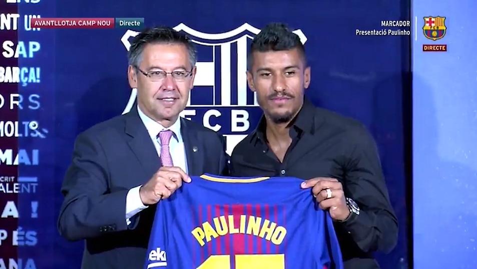 Paulinho Barcelona Barca - Pallomeri.net