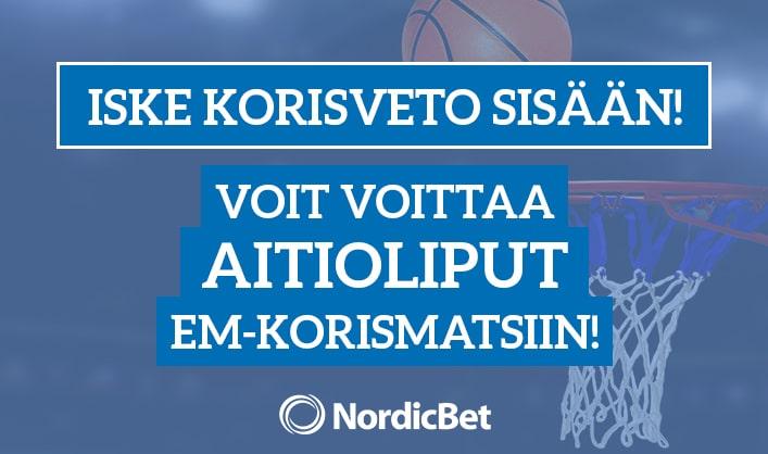 Lyö vetoa ja voita aitioliput EM-korismatsiin Kreikka-Suomi!