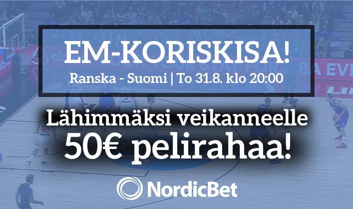 Ranska – Suomi -KISA! – lähimmäksi veikanneelle 50€ pelirahaa!