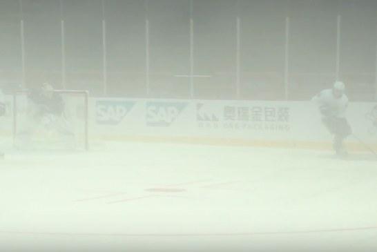 Video: Vancouver Canucks joutui harjoittelemaan Kiinassa eksoottisissa olosuhteissa