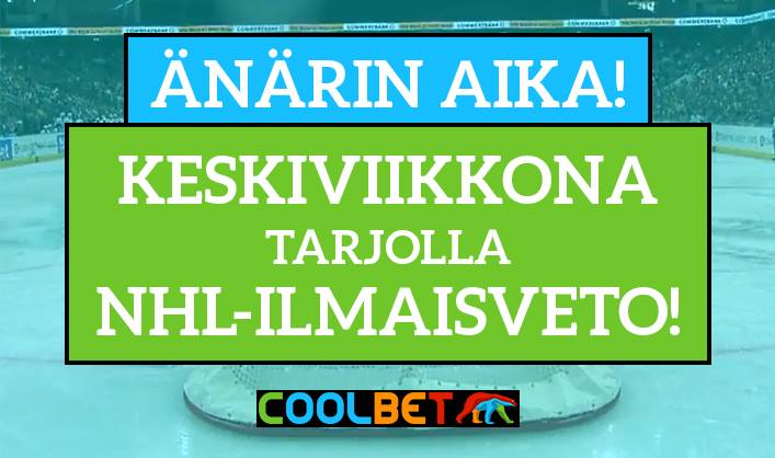 Coolbet ilmaisveto NHL / Pallomeri.net