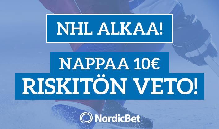 vedolla NHL NordicBet / Pallomeri.net