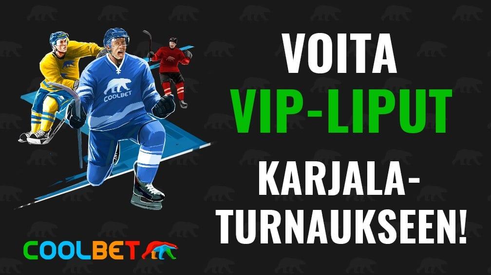 VIP-liput Karjala-turnaus Coolbet / Pallomeri.net