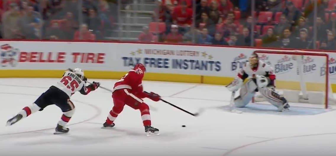 Video: Detroitin Andreas Athanasiou sivusi NHL-ennätystä – iski jatkoaikamaalin kuudessa sekunnissa
